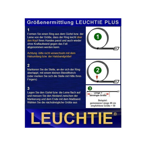 Leuchtie Plus 35 cm LED Leuchthalsband rot