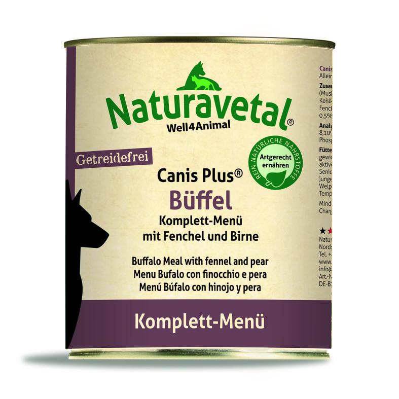 Naturavetal® Canis Plus Komplettmenü BÜFFEL 820g - getreidefrei