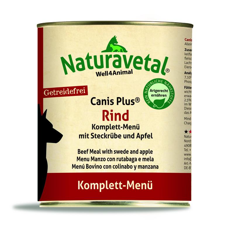 Naturavetal® Canis Plus Komplettmenü RIND 820g - getreidefrei