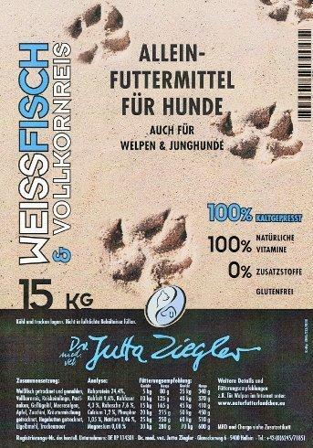 Dr. Ziegler Hundefutter kaltgepresst Weißfisch